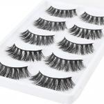 Private label strip lashes 3D real mink eyelashes faux cils