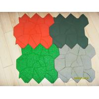 China Kids Safety Playground Rubber Mats / Outdoor Rubber Play Mats Green on sale