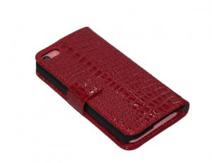 China Croco PU Apple IPhone Leather Cases , Iphone 4 / 4S Smart Phone Covers on sale