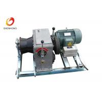 3T 5T Electric Gas Engine Powered Winch For Cable Pulling In Line Construction
