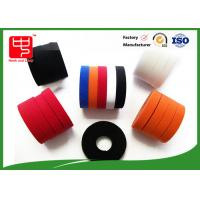 Colored hook and loop tape nylon / polyester Material , double sided sticky hook and loop tape 500 meters