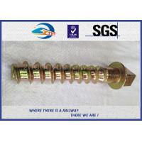 8.8 Grade 45# steel coach screws Spike with yellow zinc coating
