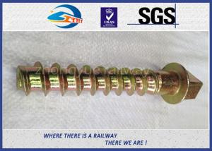 China 8.8 Grade 45# steel coach screws Spike with yellow zinc coating on sale