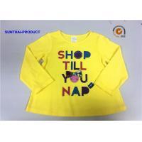 Customized Design T-Shirt Screen Print Long Sleeve 100% Cotton Baby Girl T-Shirt