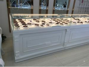 China White Color Jewelry Store Showcases Jewellery Display Cabinets OEM / ODM Available on sale