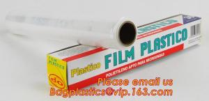 China surface protection PE best fresh cling film, China stretch cling wrap manufacturer pe food wrap with sample on sale
