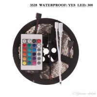 Waterproof 5M/roll 300 LEDs RGB SMD 3528 Flexible led Strip Light with 24Keys IR Remote