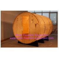China Canopy Barrel Sauna Room Canadian Pine Wood Electric Sauna Heater on sale