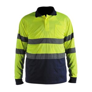 China WK-8713 High Visibility Reflective Safety Long Sleeves Shirt with a pocket on sale