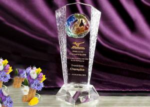 China High End Customized Crystal Glass Trophy Awards With Colored Glaze Eagle on sale
