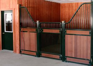 China 3m 3.6m 3.8m 4m Horse Stable Partitions / Prefab Horse Stalls With Bamboo Infill on sale