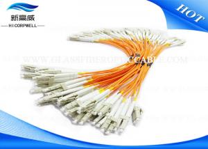 China LC UPC G652 G657 Fiber Optical Pigtail , OM1 OM2 OM3 SC Fiber Optic Patch Cord on sale