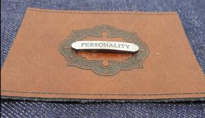 China Customized embossed fake leather patch label or imitation leather tags for jeans, men jackets and apparel on sale