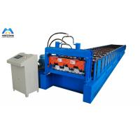 Galvanized Metal Deck Roll Forming Machine Mexico Style 1219mm Material Width