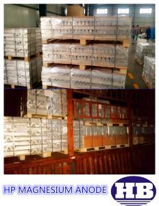 Quality El ánodo del magnesio rellena el tipo ánodo sacrificatorio del ánodo AZ63 del for sale