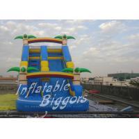 Waterproof PVC Dual Inflatable Twister Water Park Slide , Inflatable Swimming Pool