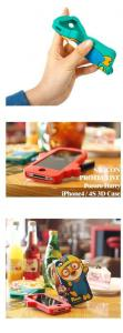 China Colorful 3D Pororo Lovely Silicon Iphone Protective Case / Covers for Iphone 4 / 4s IP4C-3 on sale