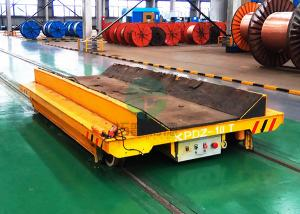 China Industrial Material Handling Ferry Motorized Die Steerable Battery Powered RGV Rail Electric Coil Transfer Vehicle on sale