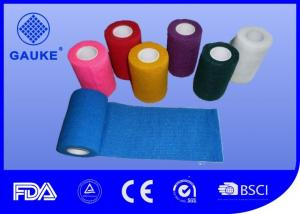 China Colorful Cotton Self Adhesive Elastic Bandage , Roll Gauze Bandage Tape Eco Friendly on sale