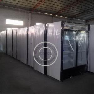 China OP-A410 Sliding Glass Door Supermarket Fridge with Good Compressor Condenser on sale