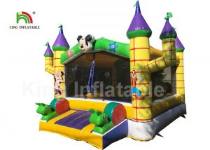 China 0.55mm PVC Combo Mickey Mouse Commercial Jumping Castles With Step on sale