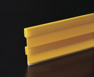 China Tira plástica reciclada de los datos del precio para el estante y precio insertado on sale