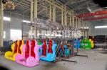 Double Flying Portable Amusement Rides Fiberglass And Steel Material