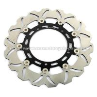 China Aluminum Billet Motorcycle Brake Disc Disk Yamaha FAZER 8 YZF R6 Black Gold on sale