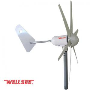 China 400W WELLSEE 6 blades permanent magnet generator Wind Turbine/horizontal axis wind generator on sale