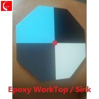 Quality Epoxy Resin Worktop/Worksurface( monolithic sectors & seamless splicing) for sale