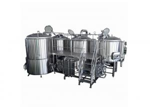 China Beer Brewing System 4 BBL Fermenter  Steam Heating 220V Semi - Auto Controlling on sale