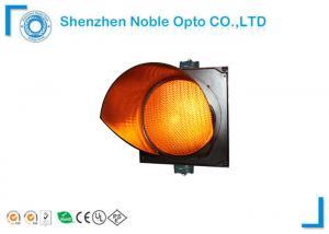 High Flux Yellow Traffic Light Lamp Cobweb Lens For School / Bus Station