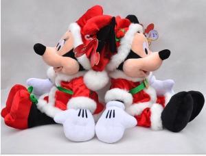 Christmas Minnie Mouse Plush.Custom Plush Toys Christmas Disney Mickey Mouse And Minnie