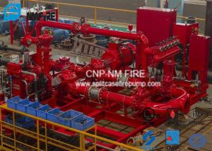 China Horizontal Skid Mounted Fire Pump With Ductile Cast Iron Materials UL/FM Listed on sale