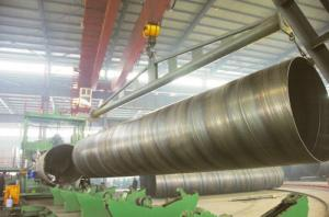 China black round BG SSAW Steel Pipe Large Diameter with X56 X70 , St52 St42 St45 Grade on sale