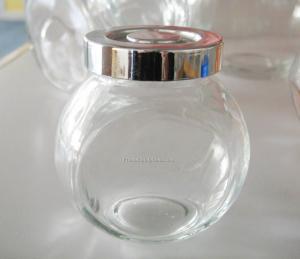 China glass food jar with straw lid,storage jar,food storage jar on sale
