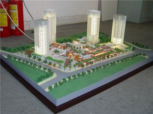 China Scale building model of residential house , model architect with led lighting on sale