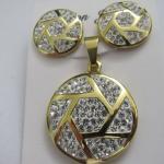 Grupos de cristal de aço inoxidável chapeados ouro da joia do traje da forma