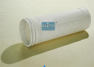 China 120 - 300mm Diameter Industrial Filter Bags Polyester / Acrylic Needle Felt on sale