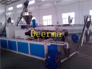 China Automatic Double Screw PVC WPC Plastic Pellet Making Machine For Granules on sale