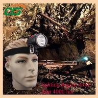 4000lux 2.8Ah cordless mining cap lights waterproof ip54