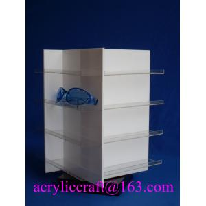 China Perspex glasses display stand rotary acrylic display stand for sunglasses / eyeglasses on sale