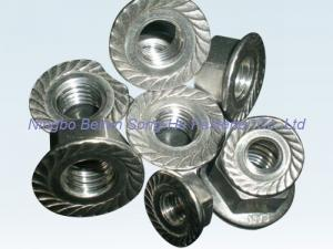 China Hexagon flange nuts, DIN6923, ISO4161, hex flange nuts, hex nuts with flange on sale