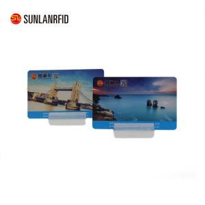 China Sunlanrfid Printed RFID Plastic Magnetic Stripe Hotel Key Card on sale