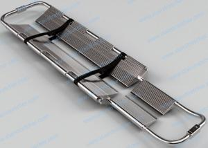 China Stainless Steel Foldable Stretcher , Adjustable Length Scoop Emergency Stretcher on sale