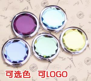 China wholesale crystal makeup compact mirrors cosmetic on sale