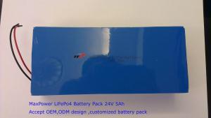 China support solaire de puissance d'UPS d'énergie de stockage de paquet de batterie du lithium LiFePo4 de 24V 5Ah on sale