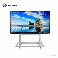 86 inch Nano Touch moving Whiteboard for teaching With Windows and Android Double OS