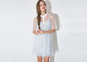 China Baby Blue Women Spring Dresses Organza Two Piece Dress , Worn Separately on sale