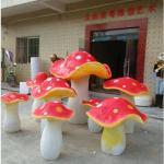 personalize modelo do cogumelo da fibra de vidro do tamanho o grande como a estátua da decoração no jardim /square/alameda da loja